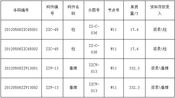 钢结构构件条码管理系统
